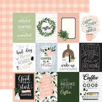 Echo Park - Coffee and Friends Collection - 12 x 12 Double Sided Paper - 3 x 4 Journaling Cards