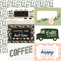 Echo Park - Coffee and Friends Collection - 12 x 12 Double Sided Paper - 6 x 4 Journaling Cards