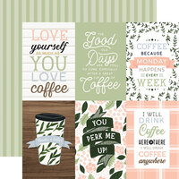 Echo Park - Coffee and Friends Collection - 12 x 12 Double Sided Paper - 4 x 6 Journaling Cards