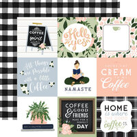 Echo Park - Coffee and Friends Collection - 12 x 12 Double Sided Paper - 4 x 4 Journaling Cards