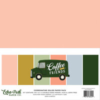 Echo Park - Coffee and Friends Collection - 12 x 12 Paper Pack - Solids