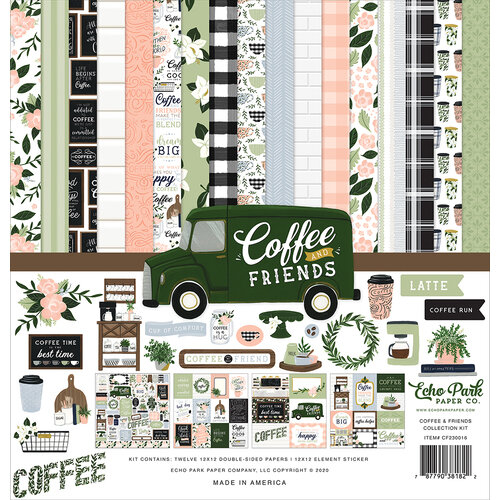 Echo Park - Coffee and Friends Collection - 12 x 12 Collection Kit