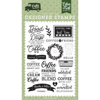 Echo Park - Coffee and Friends Collection - Clear Photopolymer Stamps - Coffee Addict