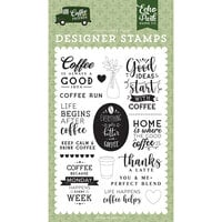 Echo Park - Coffee and Friends Collection - Clear Photopolymer Stamps - Coffee Run