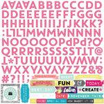 Echo Park - Capture Life Collection - 12 x 12 Cardstock Stickers - Alphabet