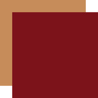 Echo Park - Christmas Magic Collection - 12 x 12 Double Sided Paper - Dark Red