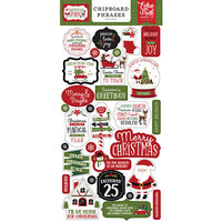 Echo Park - Christmas Magic Collection - Chipboard Embellishments - Phrases