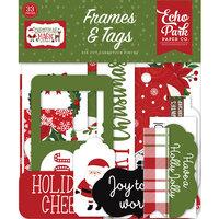 Echo Park - Christmas Magic Collection - Ephemera - Frames and Tags