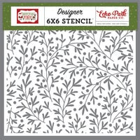 Echo Park - Christmas Magic Collection - Stencils - Christmas Branches