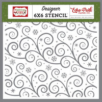 Echo Park - Christmas Magic Collection - Stencils - Swirling Snowflakes