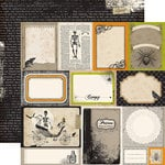 Echo Park - Chillingsworth Manor Collection - Halloween - 12 x 12 Double Sided Paper - Journaling Cards