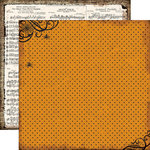 Echo Park - Chillingsworth Manor Collection - Halloween - 12 x 12 Double Sided Paper - Spider Web Polka Dot