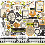 Echo Park - Chillingsworth Manor Collection - Halloween - 12 x 12 Cardstock Stickers - Elements
