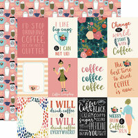 Echo Park - Coffee Collection - 12 x 12 Double Sided Paper - 3 x 4 Journaling Cards