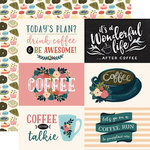 Echo Park - Coffee Collection - 12 x 12 Double Sided Paper - 4 x 6 Horizontal Journaling Cards