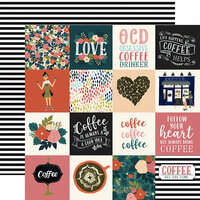 Echo Park - Coffee Collection - 12 x 12 Double Sided Paper - 3 x 3 Journaling Cards