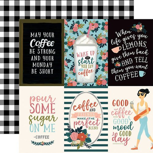 Echo Park - Coffee Collection - 12 x 12 Double Sided Paper - 4 x 6 Vertical Journaling Cards