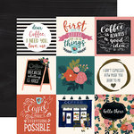 Echo Park - Coffee Collection - 12 x 12 Double Sided Paper - 4 x 4 Journaling Cards