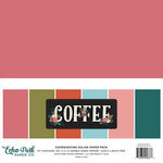 Echo Park - Coffee Collection - 12 x 12 Paper Pack - Solids