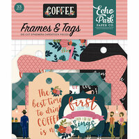 Echo Park - Coffee Collection - Ephemera - Frames and Tags