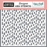 Echo Park - Coffee Collection - 6 x 6 Stencil - Coffee Dot