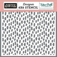 Echo Park - Coffee Collection - 6 x 6 Stencil - Coffee Dot