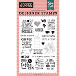 Echo Park - Coffee Collection - Clear Acrylic Stamps - Coffee Time