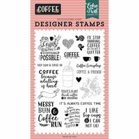 Echo Park - Coffee Collection - Clear Photopolymer Stamps - Coffee Time