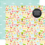 Echo Park - Celebrate Spring Collection - 12 x 12 Double Sided Paper with Glossy Accents - April Showers