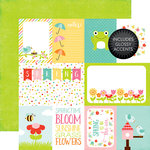 Echo Park - Celebrate Spring Collection - 12 x 12 Double Sided Paper with Glossy Accents - Journaling Cards