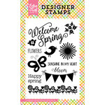 Echo Park - Celebrate Spring Collection - Clear Acrylic Stamps - Welcome Spring