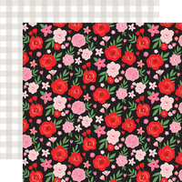 Echo Park - Cupid and Co. Collection - 12 x 12 Double Sided Paper - Valentine Floral