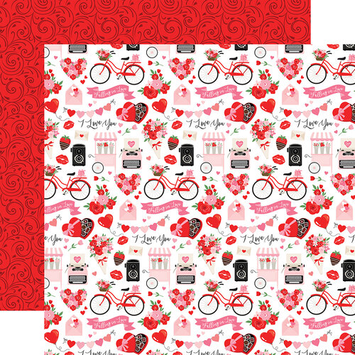 Echo Park - Cupid and Co. Collection - 12 x 12 Double Sided Paper - I Love You