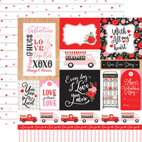 Echo Park - Cupid and Co. Collection - 12 x 12 Double Sided Paper - Multi Journaling Cards