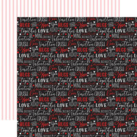 Echo Park - Cupid and Co. Collection - 12 x 12 Double Sided Paper - Love Words