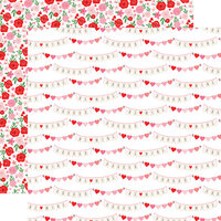 Echo Park - Cupid and Co. Collection - 12 x 12 Double Sided Paper - XOXO Banners