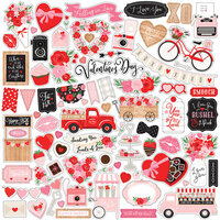 Echo Park - Cupid and Co. Collection - 12 x 12 Cardstock Stickers - Elements