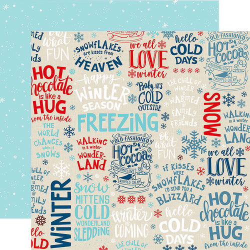 Echo Park - Celebrate Winter Collection - 12 x 12 Double Sided Paper - Winter Season
