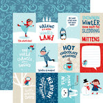 Echo Park - Celebrate Winter Collection - 12 x 12 Double Sided Paper - 3 x 4 Journaling Cards