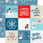 Echo Park - Celebrate Winter Collection - 12 x 12 Double Sided Paper - 4 x 4 Journaling Cards
