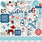 Echo Park - Celebrate Winter Collection - 12 x 12 Cardstock Stickers - Elements