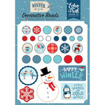 Echo Park - Celebrate Winter Collection - Decorative Brads