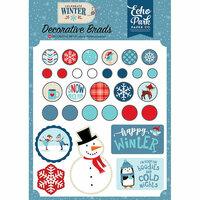 Echo Park - Celebrate Winter Collection - Decorative Brads