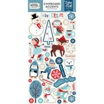 Echo Park - Celebrate Winter Collection - Chipboard Stickers - Accents
