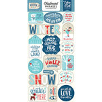Echo Park - Celebrate Winter Collection - Chipboard Stickers - Phrases