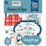 Echo Park - Celebrate Winter Collection - Ephemera - Frames and Tags