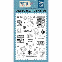 Echo Park - Celebrate Winter Collection - Clear Photopolymer Stamps - Happy Winter