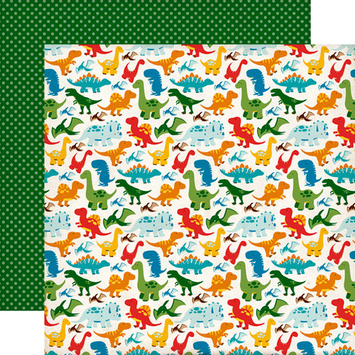 Echo Park - Dino Friends Collection - 12 x 12 Double Sided Paper - Dynamite Dinosaurs