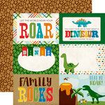 Echo Park - Dino Friends Collection - 12 x 12 Double Sided Paper - 4 x 6 Journaling Cards