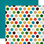 Echo Park - Dino Friends Collection - 12 x 12 Double Sided Paper - Dino Dots